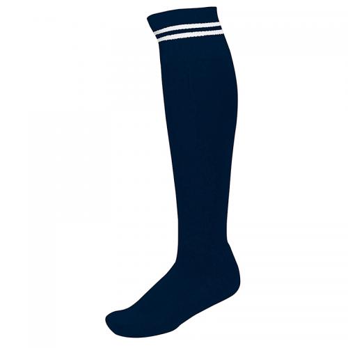 Chaussettes de Sport à Rayures - Marine & Blanc