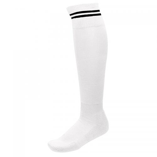 Chaussettes de Sport à Rayures - Blanc & Noir