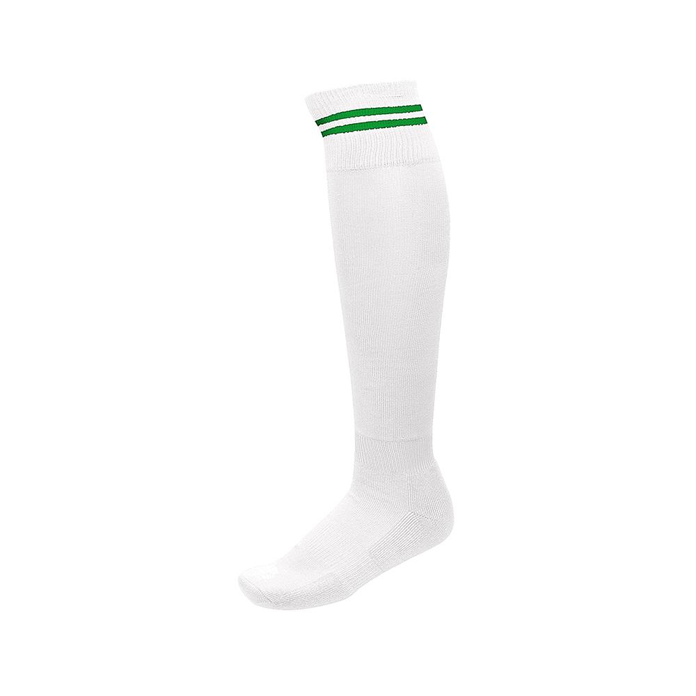 Chaussettes de Sport à Rayures - Blanc & Vert