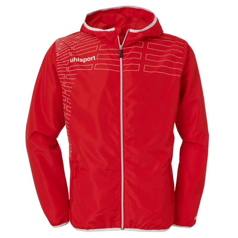 Uhlsport Match Presentation Jacket - Rouge & Blanc