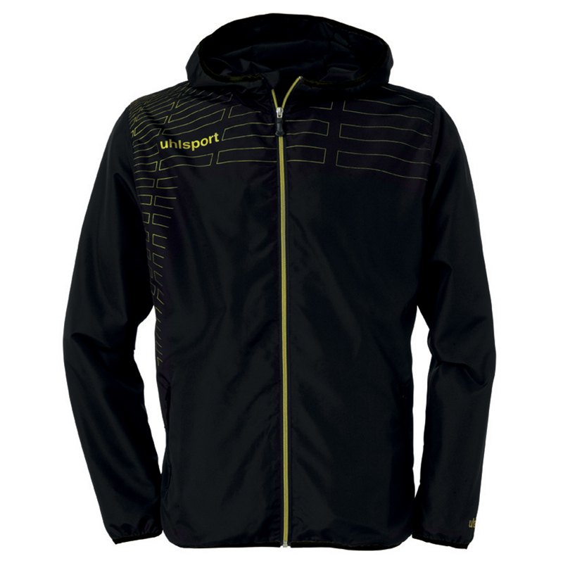 Uhlsport Match Presentation Jacket - Noir & Jaune