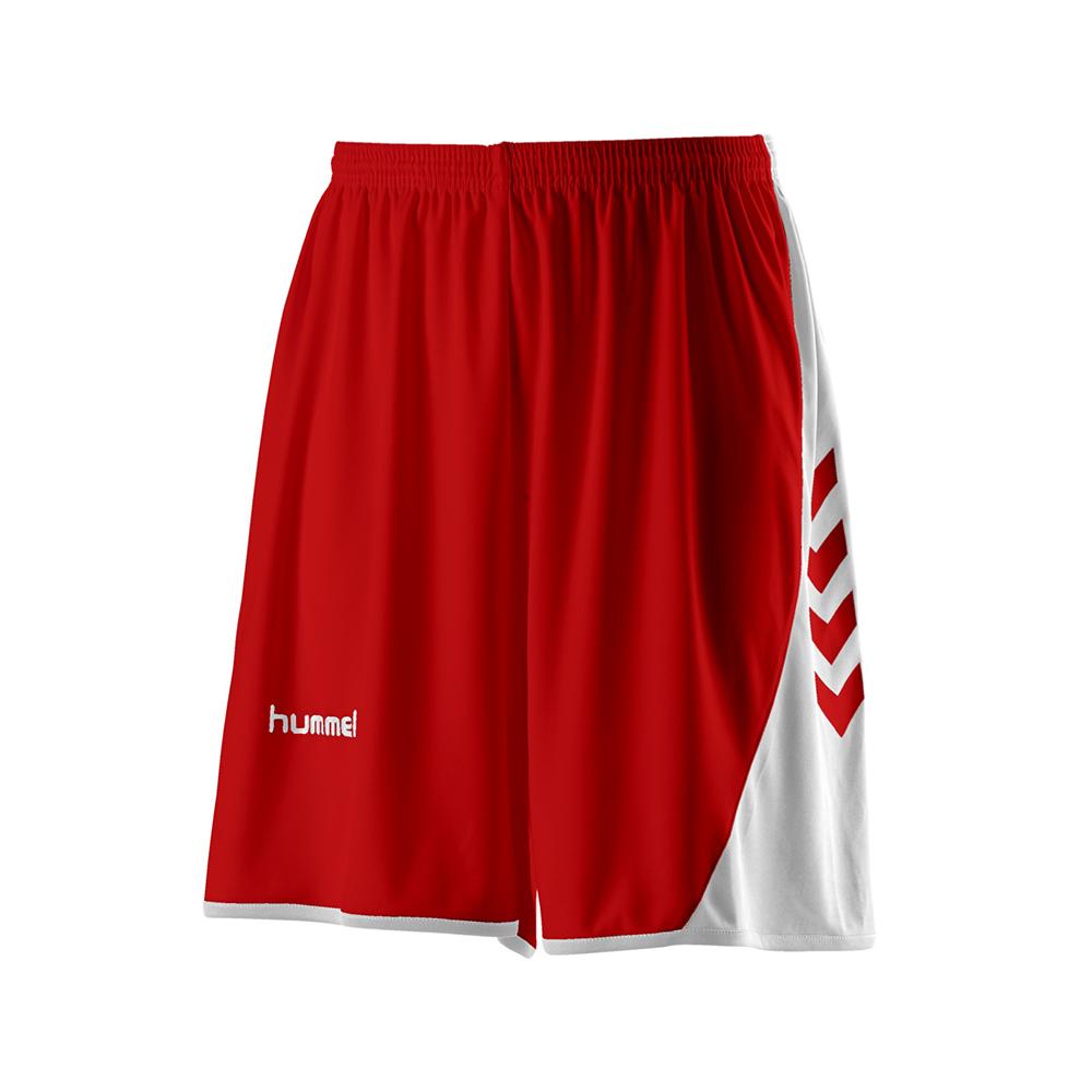 Hummel Hoop Shorts - Rouge & Blanc