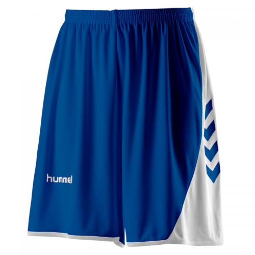 Hummel Hoop Shorts - Royal & Blanc