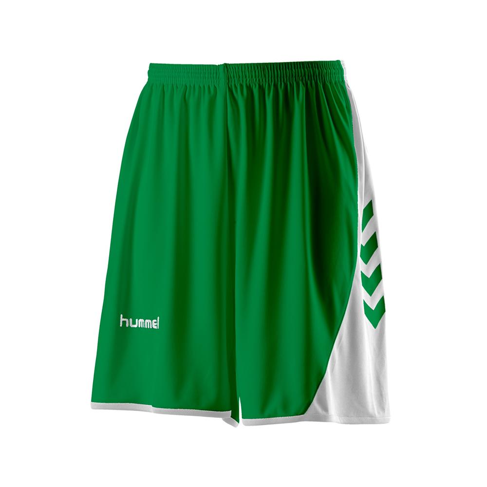 Hummel Hoop Shorts - Vert & Blanc