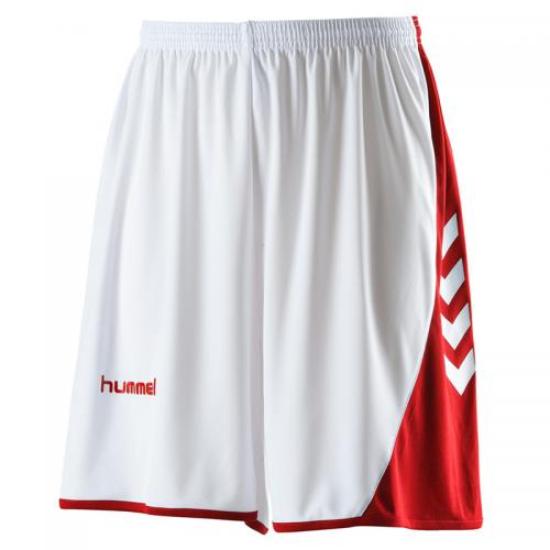 Hummel Hoop Shorts - Blanc & Rouge