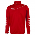 Hummel Sweat Demi-Zip Corporate - Rouge