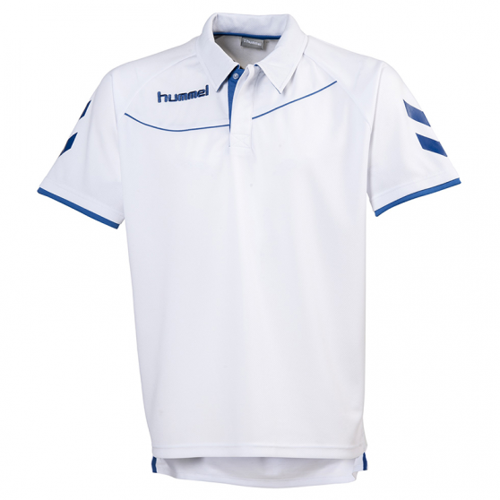 Hummel Polo Corporate - Blanc & Royal