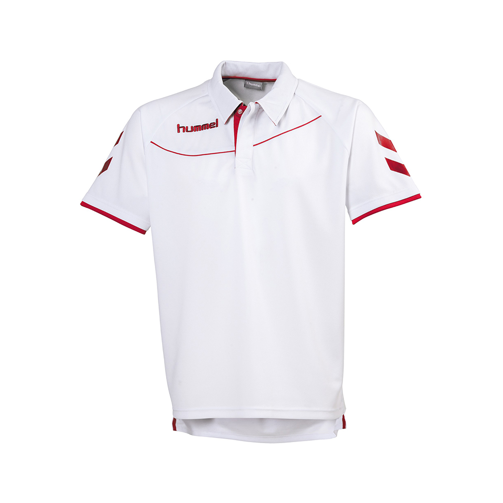 Hummel Polo Corporate - Blanc & Rouge