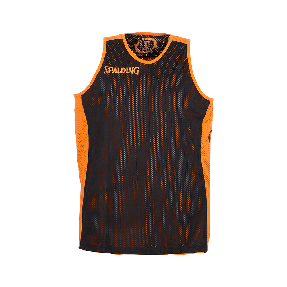 Spalding Essential Reversible Shirt - Orange & Noir