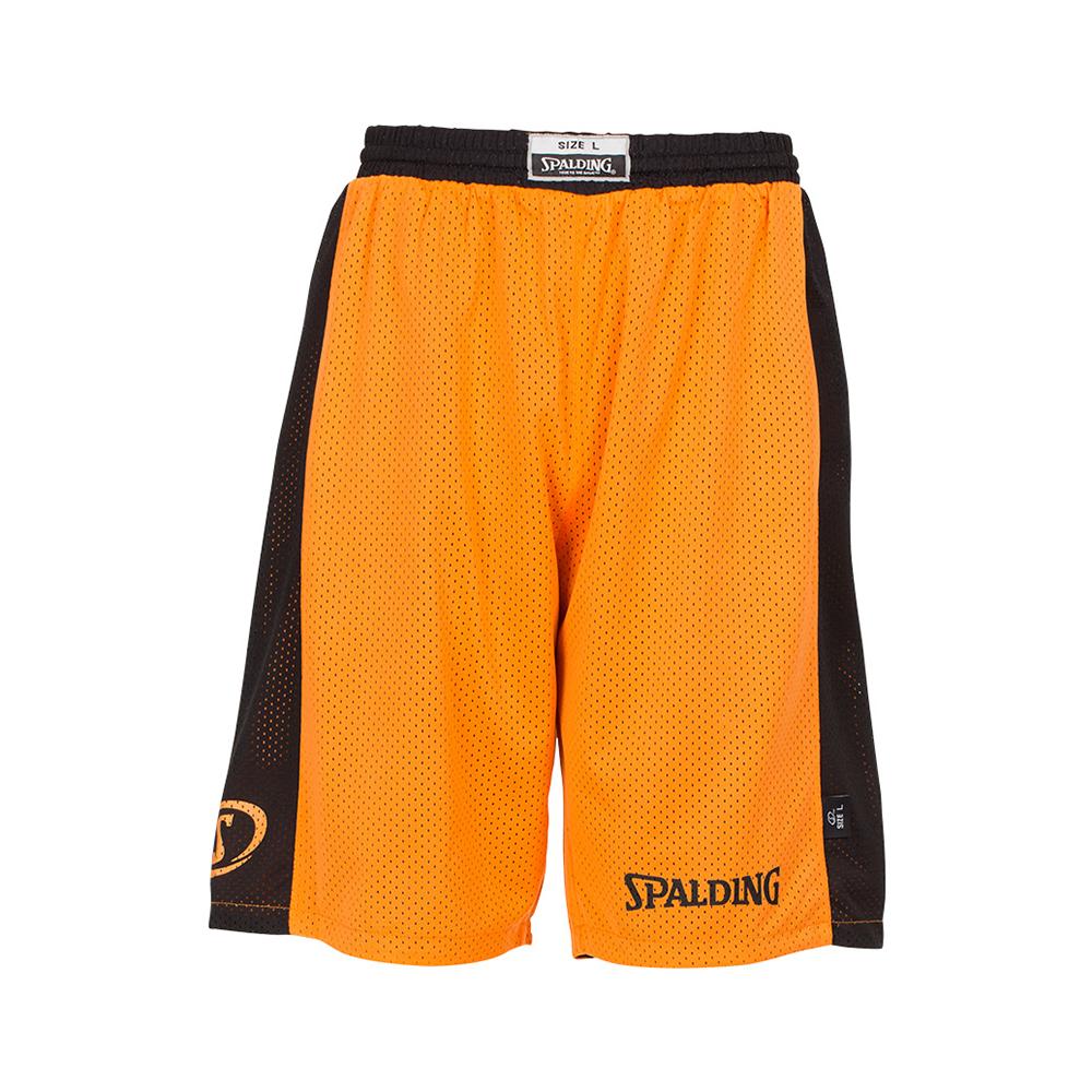 Spalding Essential Reversible Shorts - Orange et noir