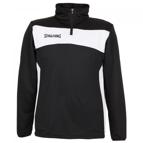 Spalding Evolution II 1/4 Zip Top - Noir & Blanc