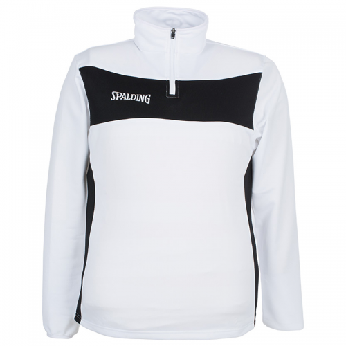 Spalding Evolution II 1/4 Zip Top - Blanc & Noir