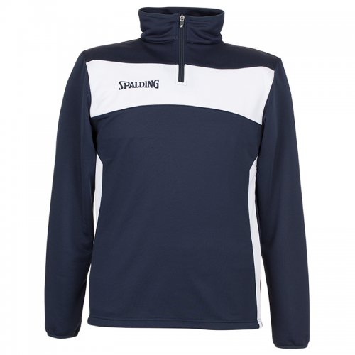Spalding Evolution II 1/4 Zip Top - Navy & Blanc