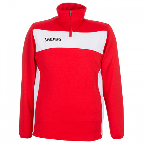 Spalding Evolution II 1/4 Zip Top - Rouge & Blanc