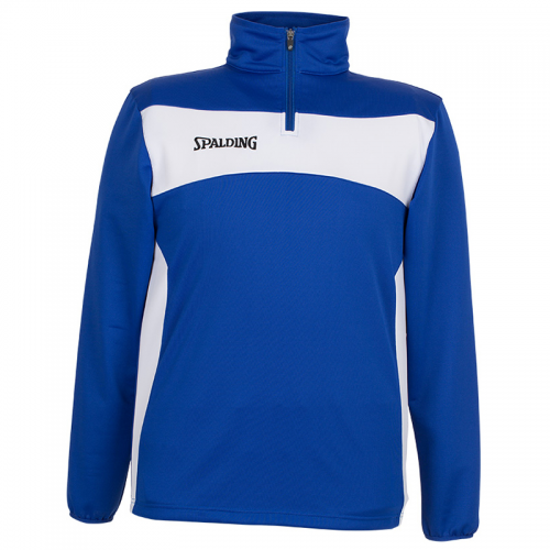 Spalding Evolution II 1/4 Zip Top - Royal & Blanc