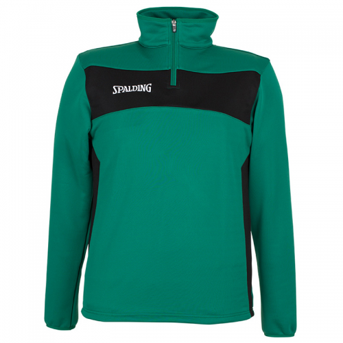 Spalding Evolution II 1/4 Zip Top - Vert & Noir