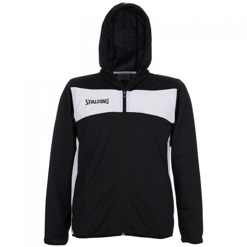 Spalding Evolution II Hooded Classic Jacket - Noir & Blanc