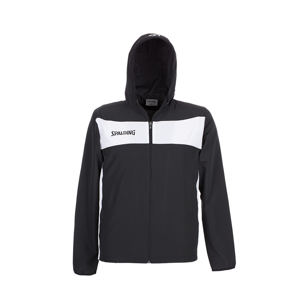 Spalding Evolution II Hooded Woven Jacket - Noir & Blanc