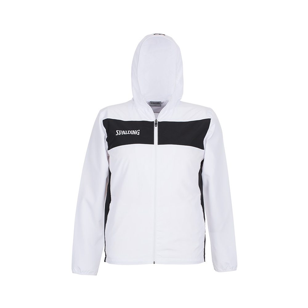Spalding Evolution II Hooded Woven Jacket - Blanc & Noir