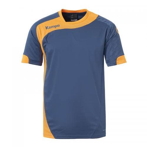 Kempa Peak Shirt - Pétrole & Orange