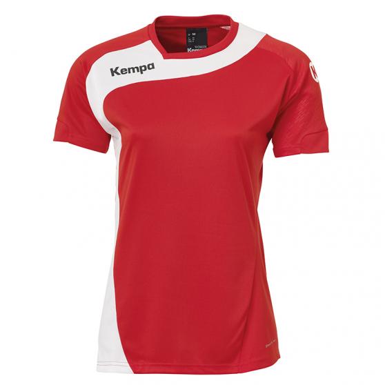 Kempa Peak Shirt Women - Rouge & Blanc