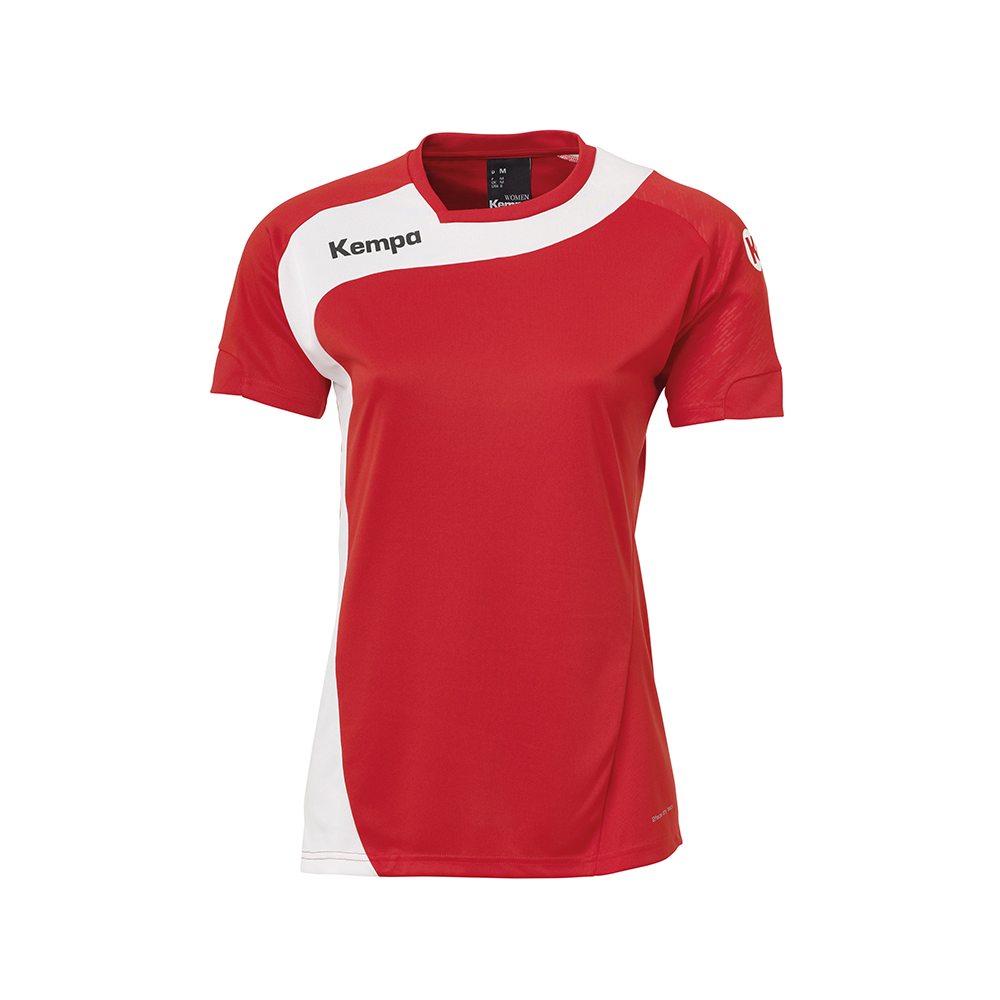 Kempa Peak Shirt Women - Rouge & Blanc