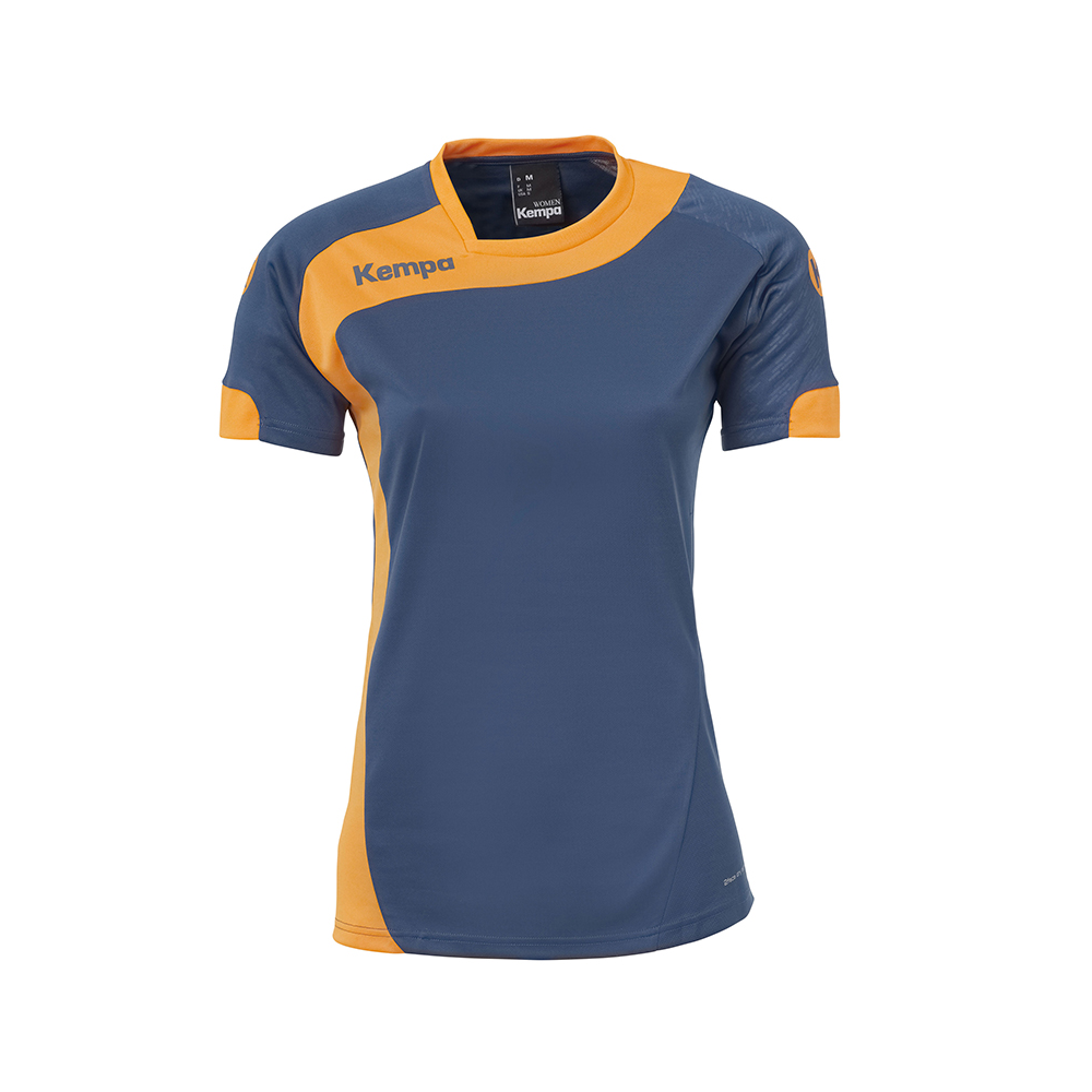 Kempa Peak Shirt Women - Pétrole & Orange