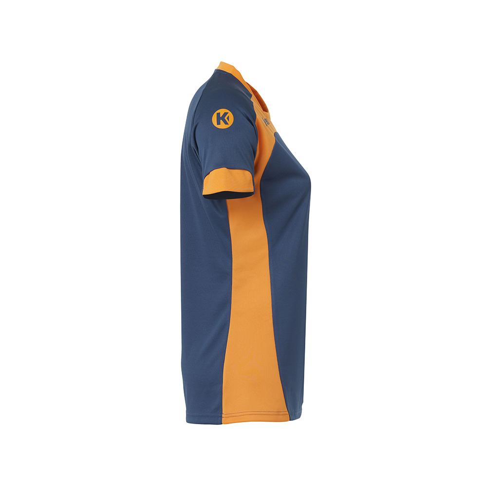Kempa Peak Shirt Women - Pétrole & Orange