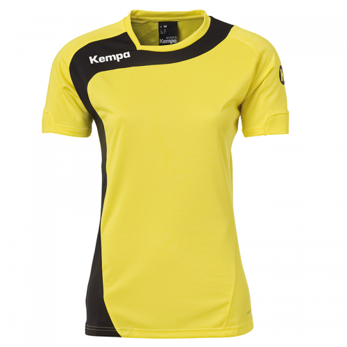 Kempa Peak Shirt Women - Jaune & Noir
