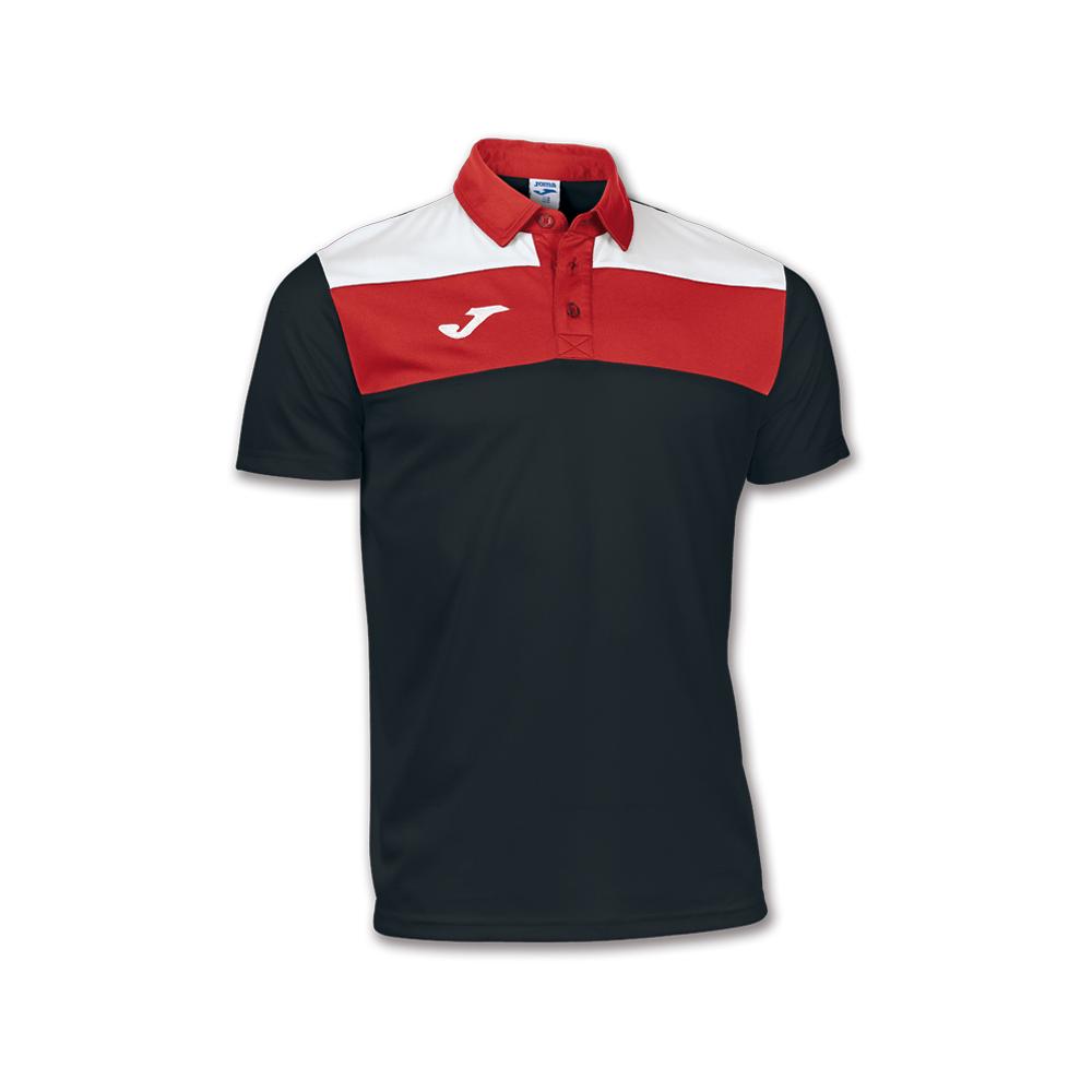 Joma Crew Polo Dry MX - Noir & Rouge