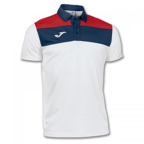Joma Crew Polo Dry MX - Blanc, Marine & Rouge