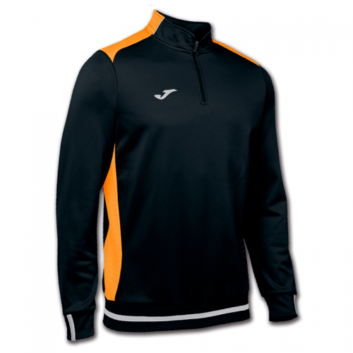 Joma Campus II 1/4 Zip - Noir & Orange