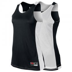 Nike League Reversible Tank Femme - Noir & Blanc