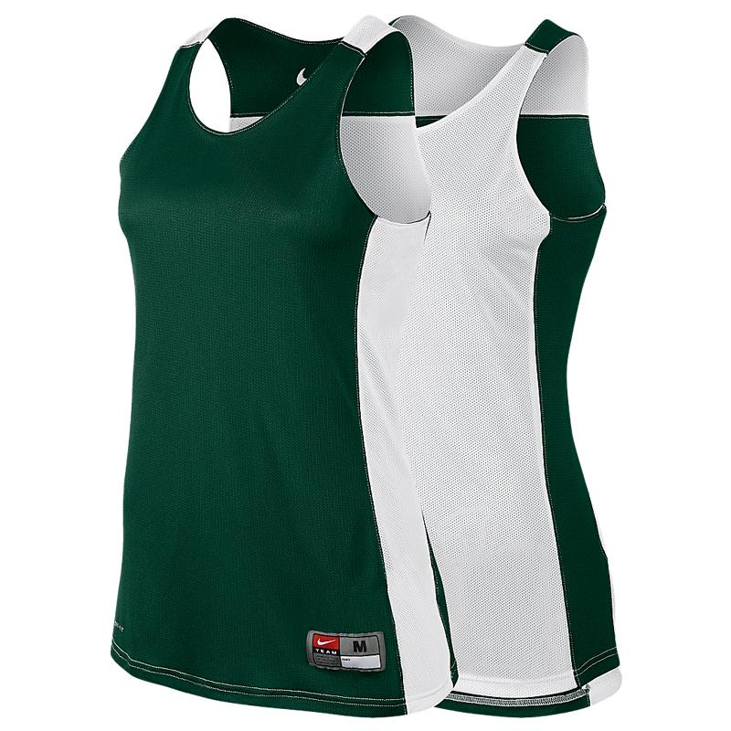 714ba2d86f Nike League Reversible Tank Femme - Vert & Blanc