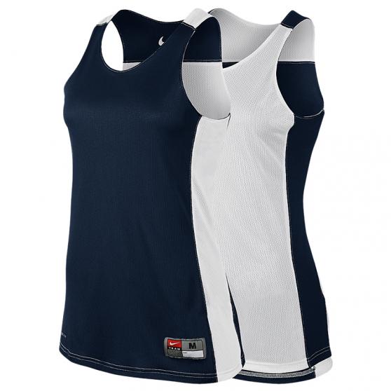 Nike League Reversible Tank Femme - Navy & Blanc