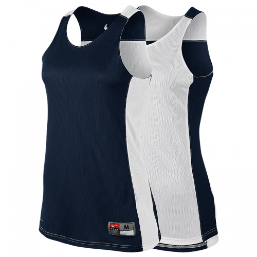 Nike League Reversible Tank Femme - Navy & Blanc