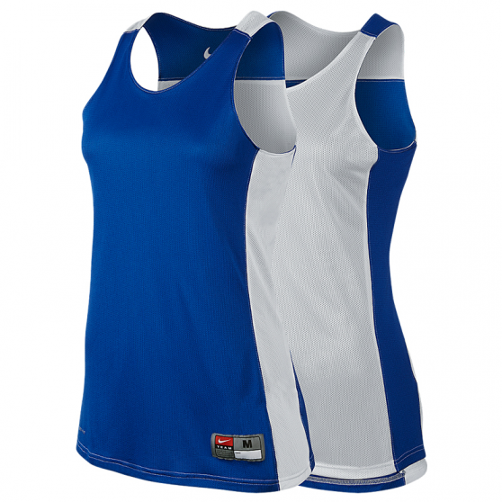 Nike League Reversible Tank Femme - Royal & Blanc