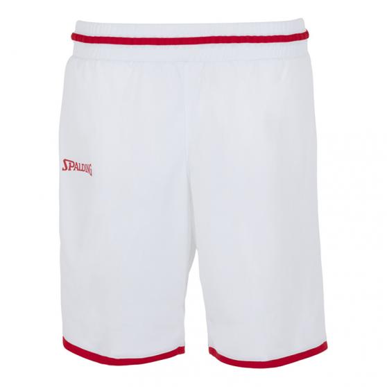Spalding Move Shorts Women - Blanc et rouge