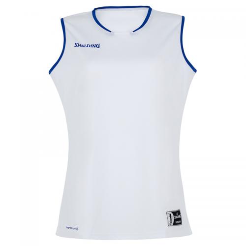 Spalding Move Tank Top Women - Blanc et bleu royal