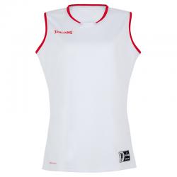Spalding Move Tank Top Women - Blanc & Rouge