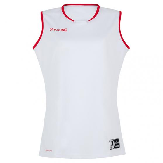 Spalding Move Tank Top Women - Blanc et rouge