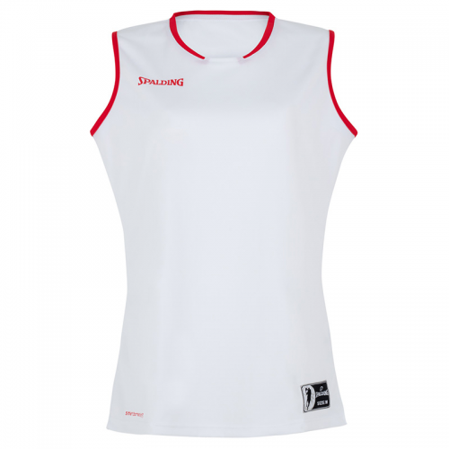 Spalding Move Tank Top Women - Blanc & Rouge