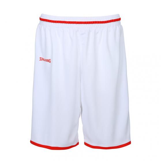 Spalding Move Shorts - Blanc & Rouge