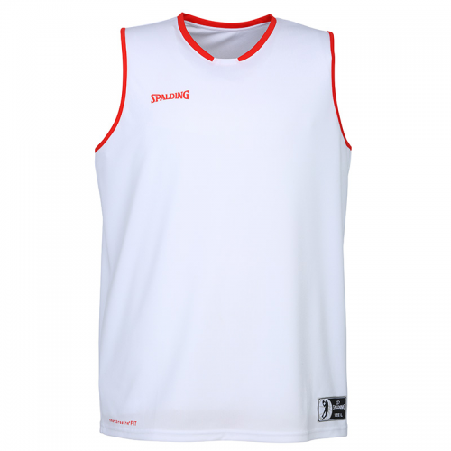 Spalding Move Tank Top - Blanc & Rouge