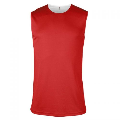 Maillot Basketball Réversible - Blanc & Rouge