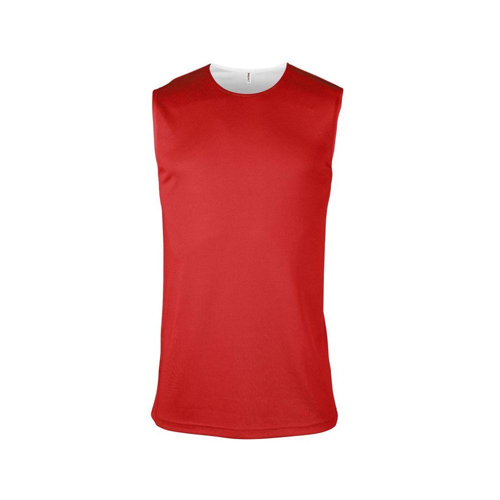 Maillot Basketball Réversible - Blanc & Rouge