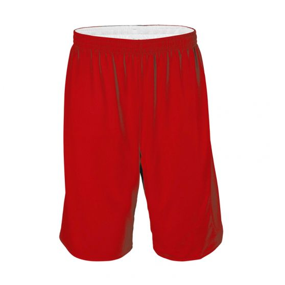Short Basketball Réversible - Blanc & Rouge