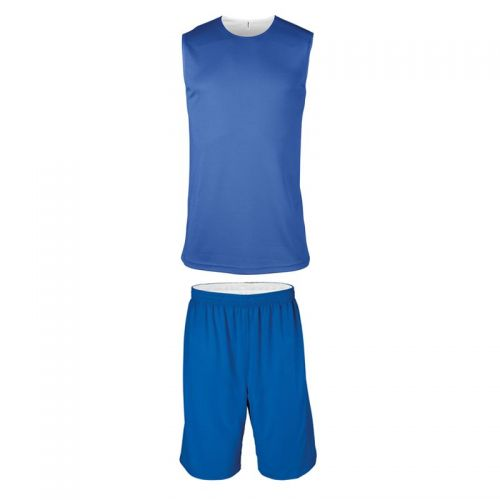 Ensemble Basketball Réversible Junior - Royal & Blanc