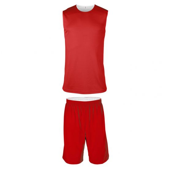 Ensemble Basketball Réversible Junior - Rouge & Blanc