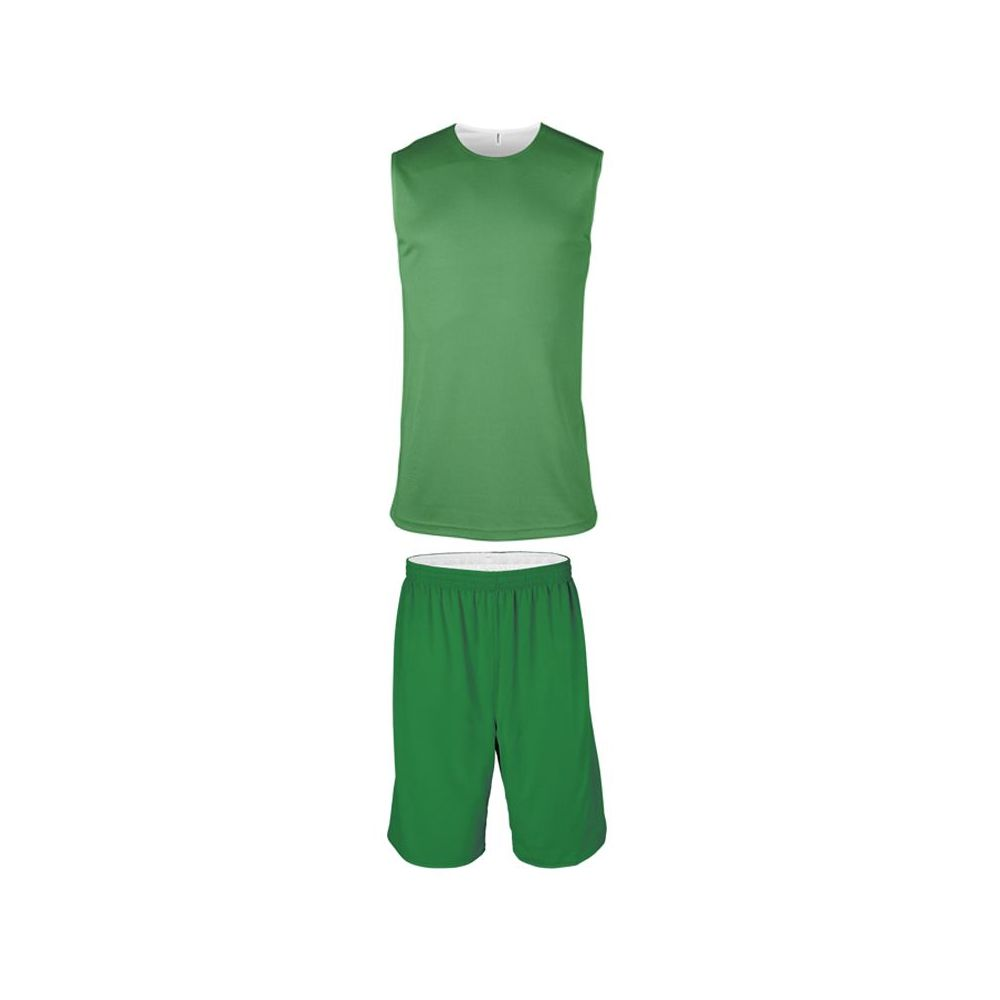 Ensemble Basketball Réversible Junior - Vert & Blanc